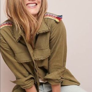 Moon River Fringe Trim Utility Jacket